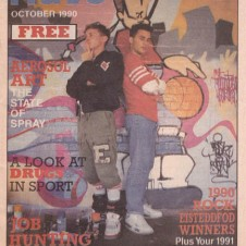 Cover of Rave magazine, 1990